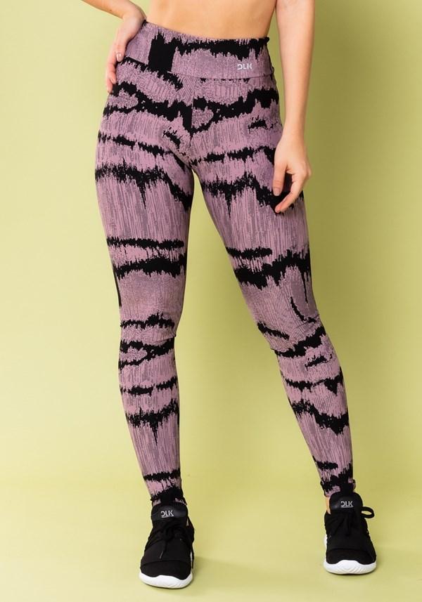 Produto Calça legging energy estampada frequência lilás
