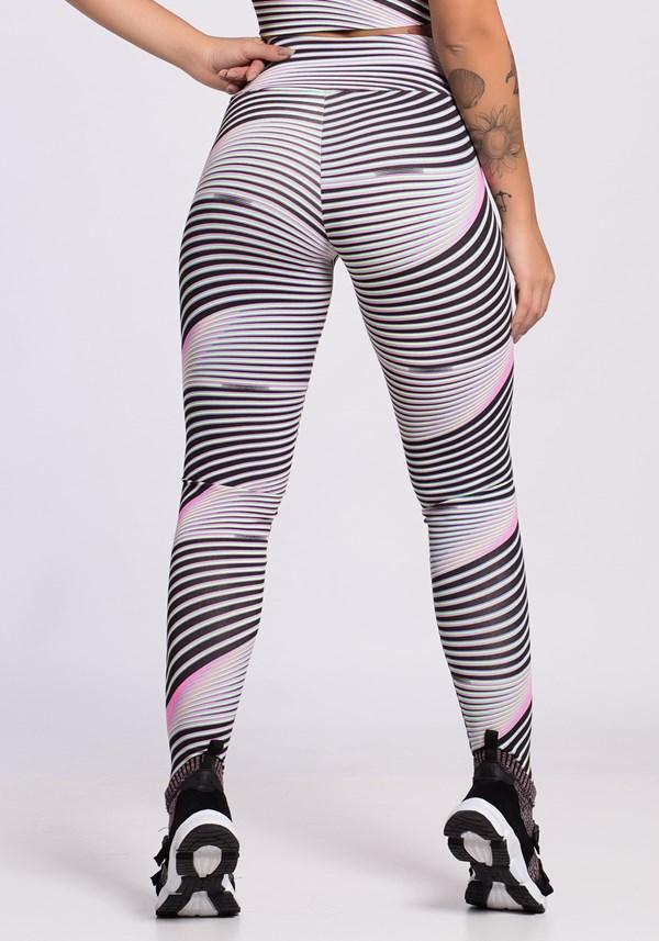 Calça legging estampada black and neon