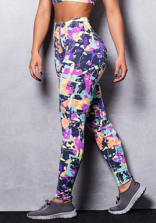 Calça legging estampada colors