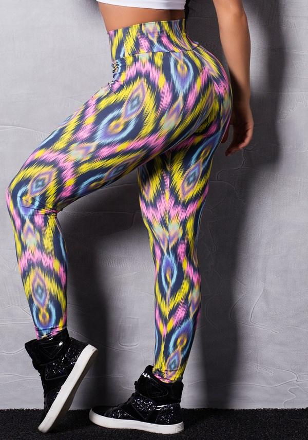 Calça legging estampada colors stains