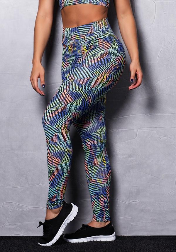 Calça legging estampada lines