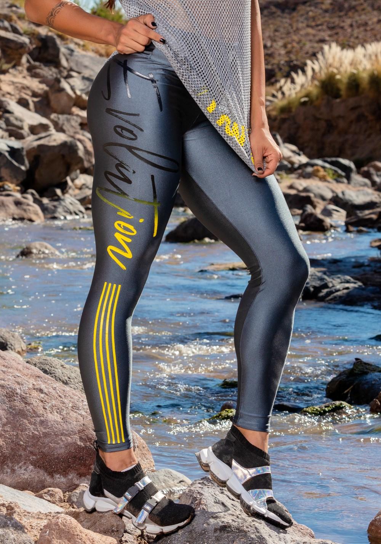 Calça legging gloss grafite evolution
