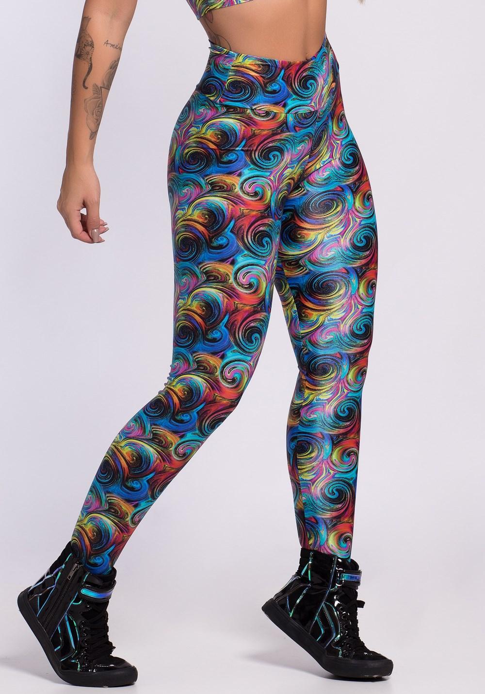 Calça legging glow spiral colors