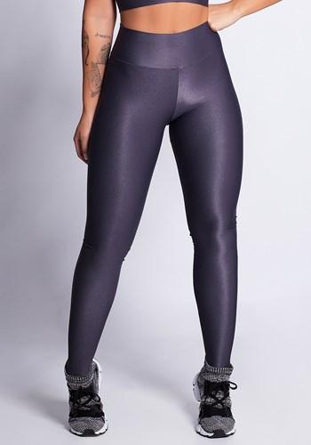 Calça legging grafite texturizado shine