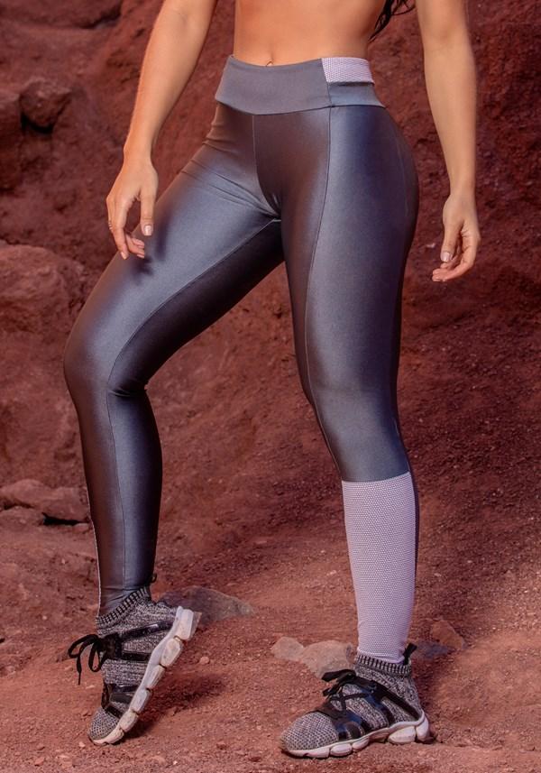 Calça legging grafite trend metal