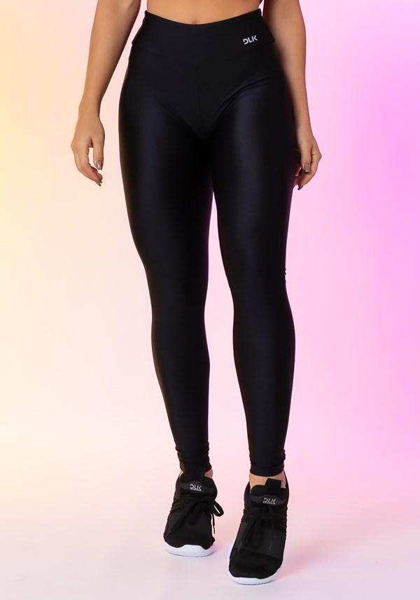 Calça legging happiness básica com brilho preta