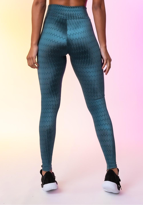 Calça legging happiness básica texturizada azul