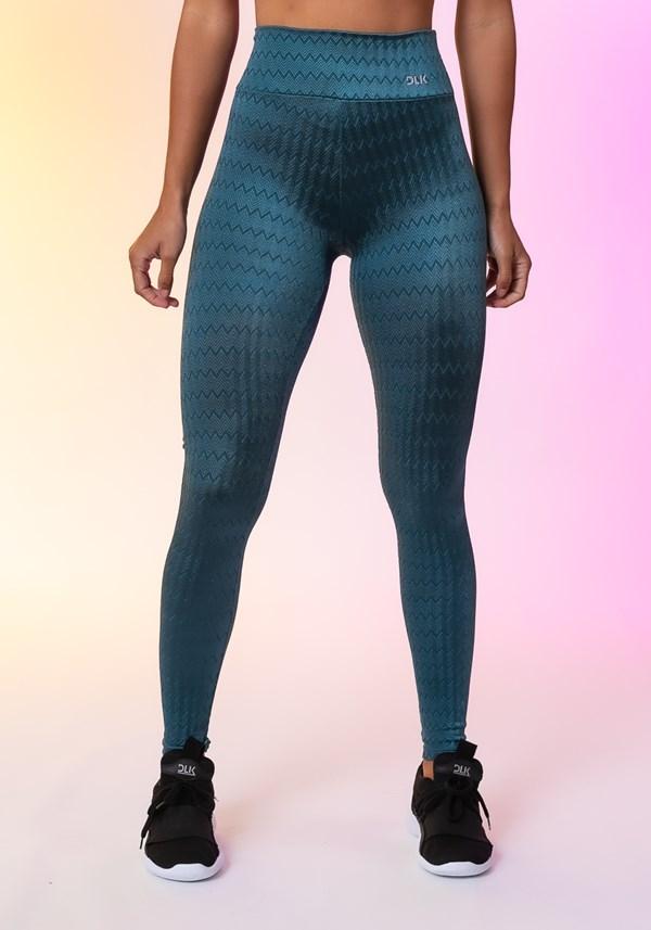 Produto Calça legging happiness básica texturizada azul