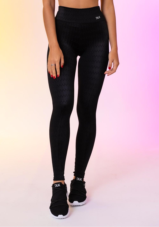 Calça legging happiness básica texturizada preta