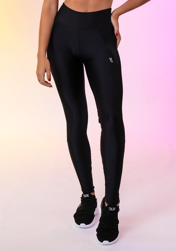 Calça legging happiness com recorte texturizado preta