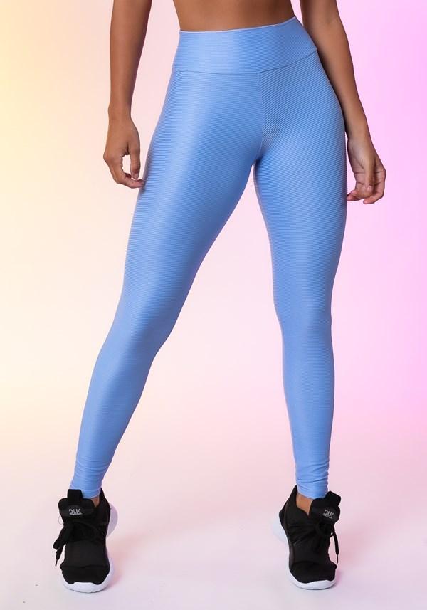 Calça legging happiness texturizada  azul