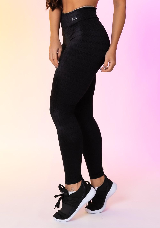 Calça legging happiness texturizada básica preta