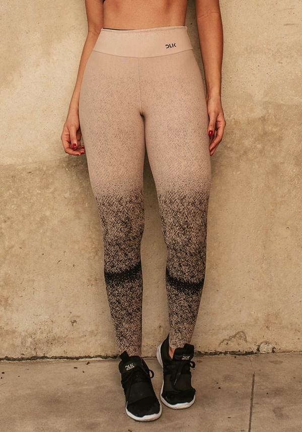 Produto Calça legging jacquard degradê nude com preto