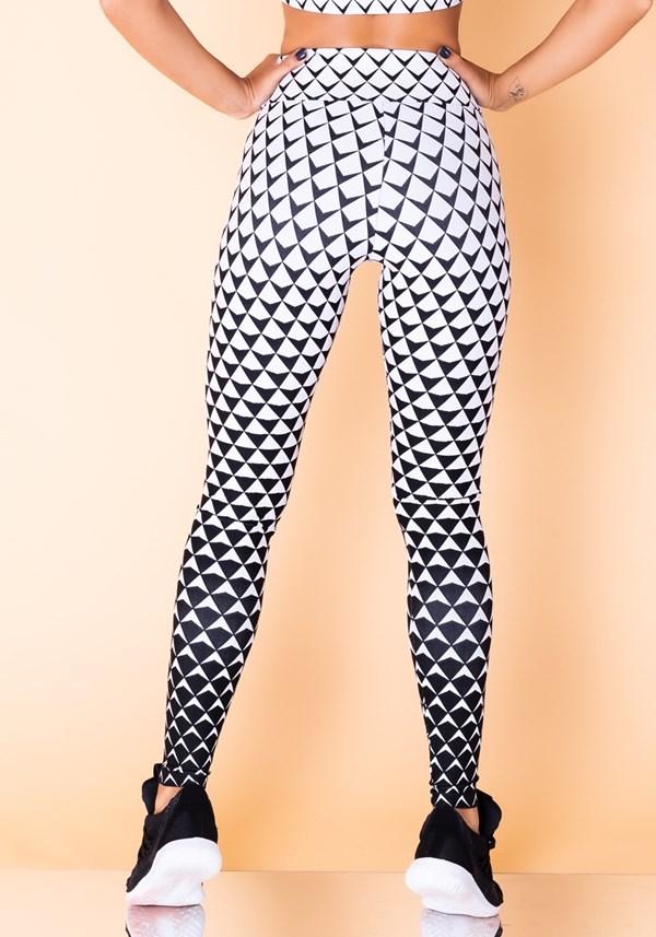 Calça legging jacquard escama branca reverse