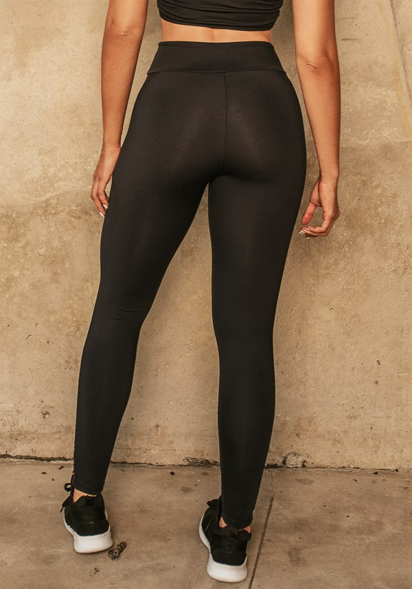 Calça legging jacquard preta dlk dourado
