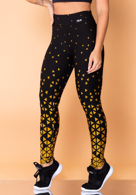 Calça legging jacquard triângulo dourado