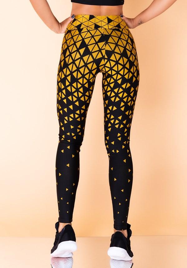 Calça legging jacquard triângulo dourado reverse