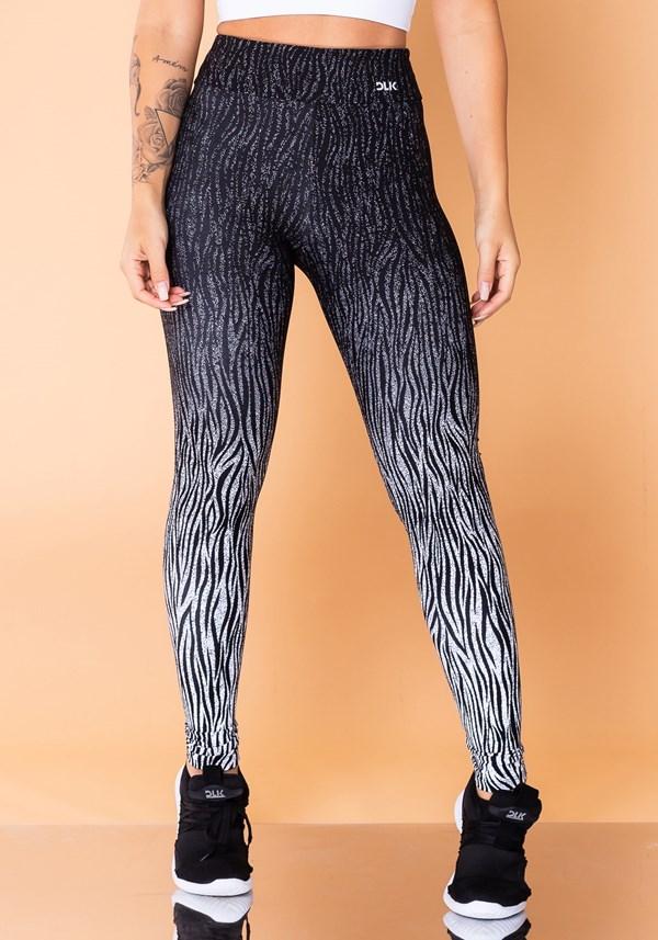Calça legging jacquard zebra branca