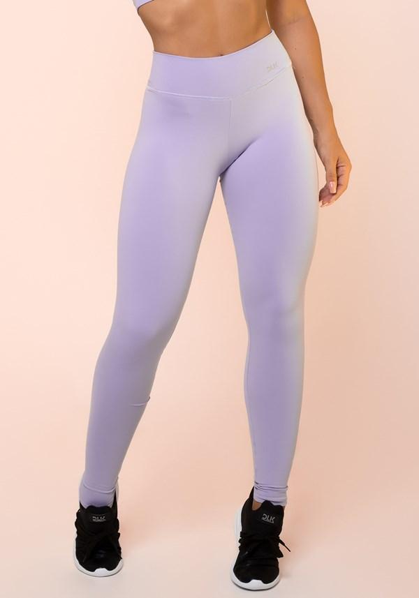 Calça legging lilás básica