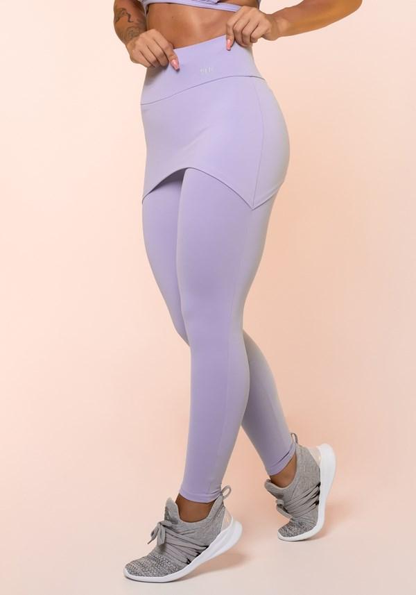 Calça legging lilás com tapa bumbum básica