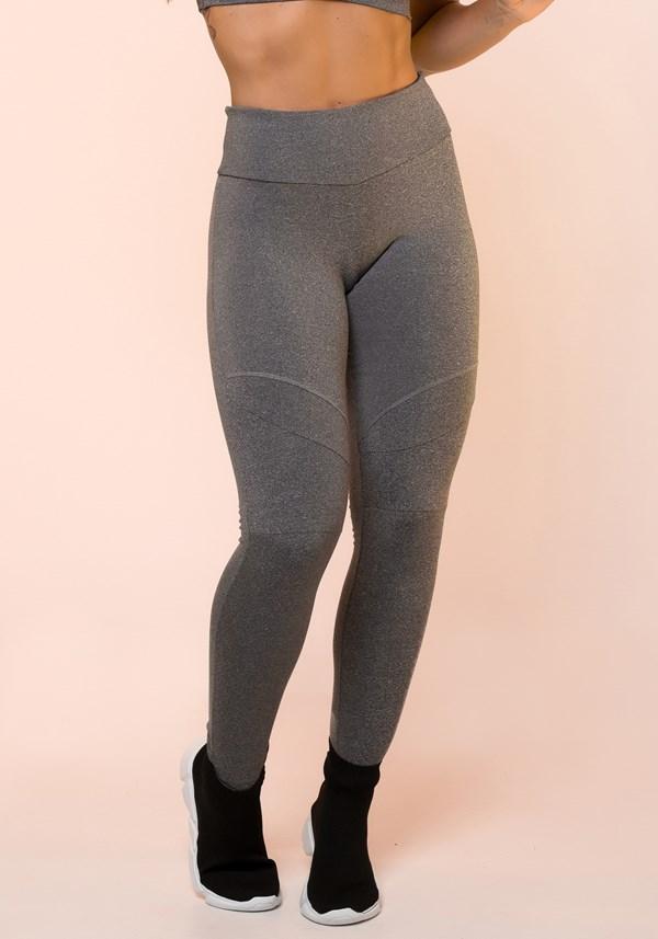Produto Calça legging mescla com recortes básico