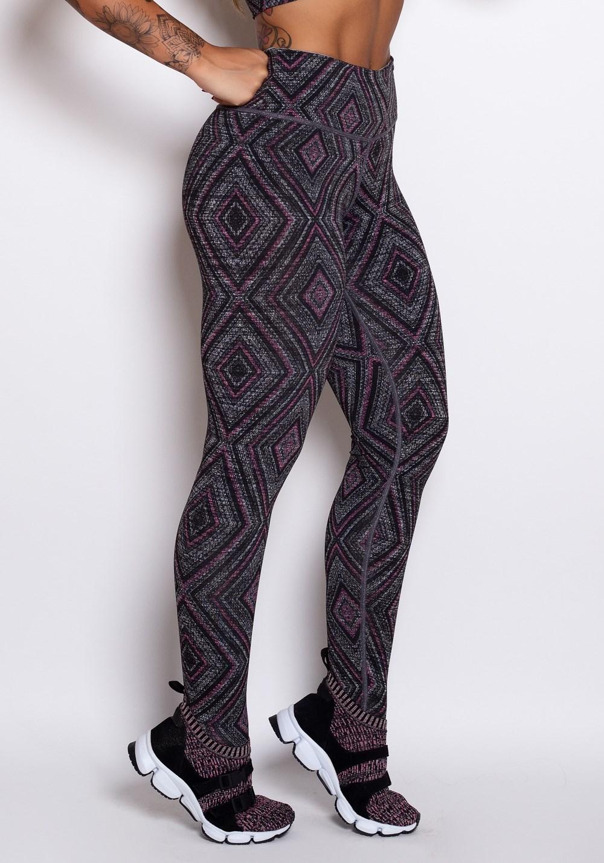 Calça legging mescla estampada form