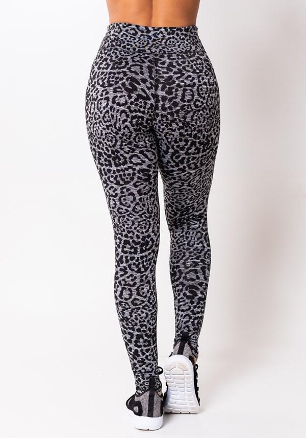 Calça legging mescla jaguar