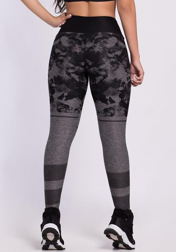 Calça legging mescla printed black stains