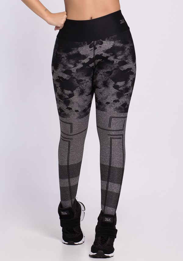 Calça legging mescla printed black stains