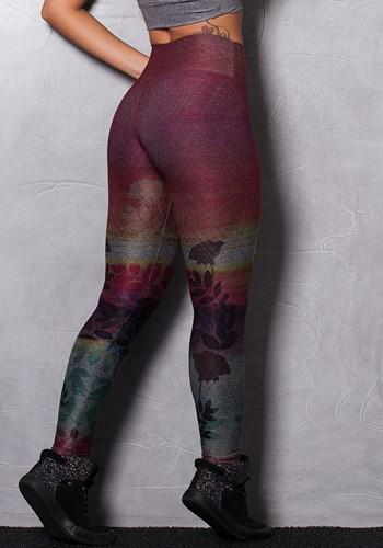 Calça legging mescla printed colorful