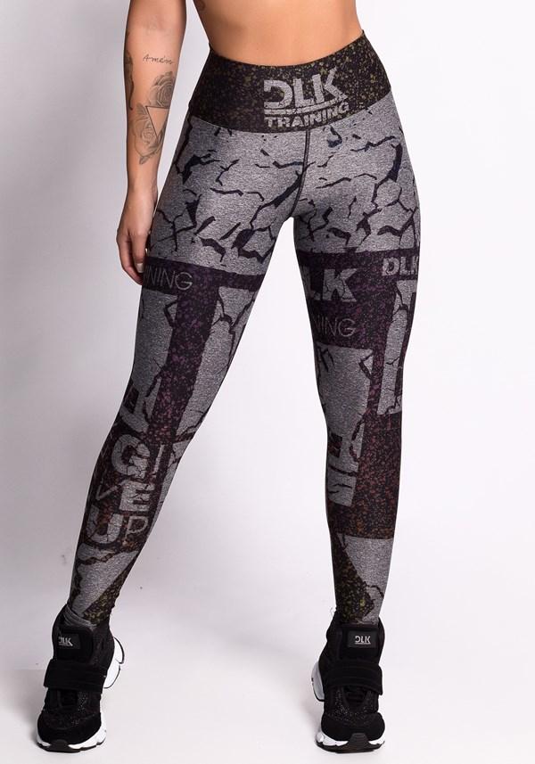 Calça legging mescla printed dlk