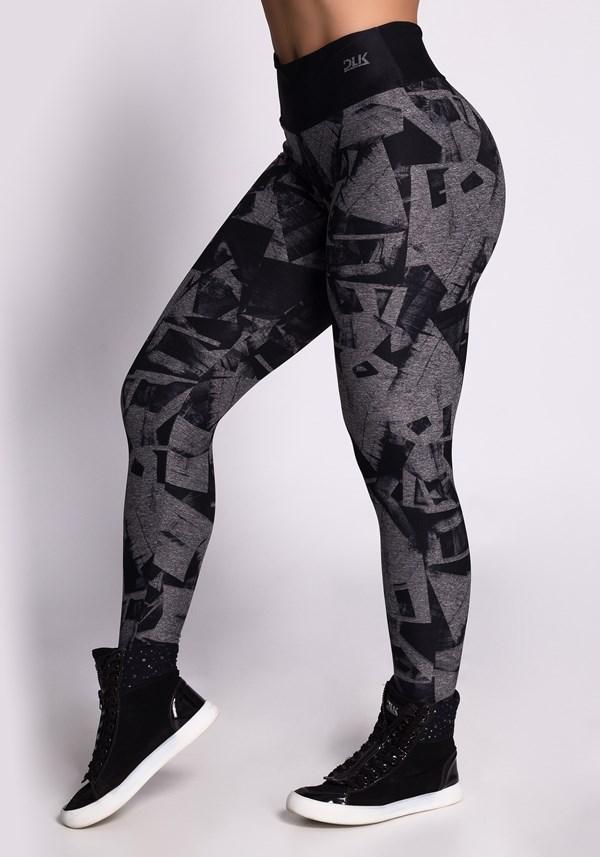 Calça legging mescla printed geometric