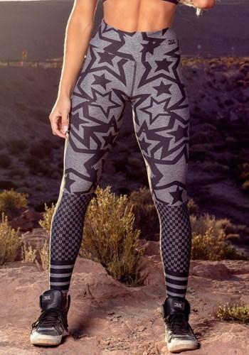 Calça legging mescla printed star