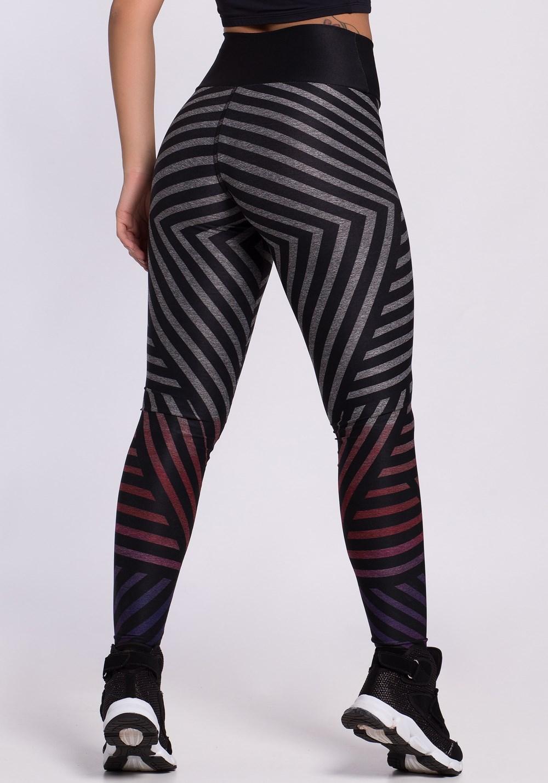 Calça legging mescla printed stripes