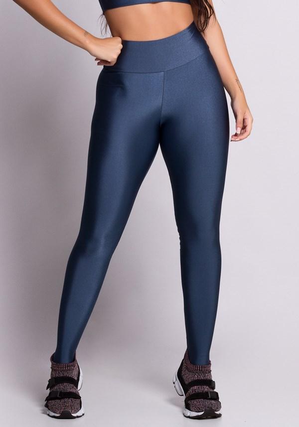 Calça legging metal azul
