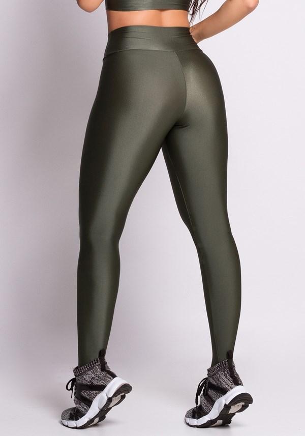 Calça legging metal green