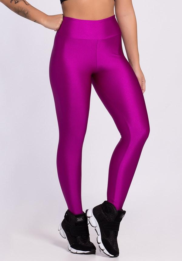 Calça legging metal purple always stronger