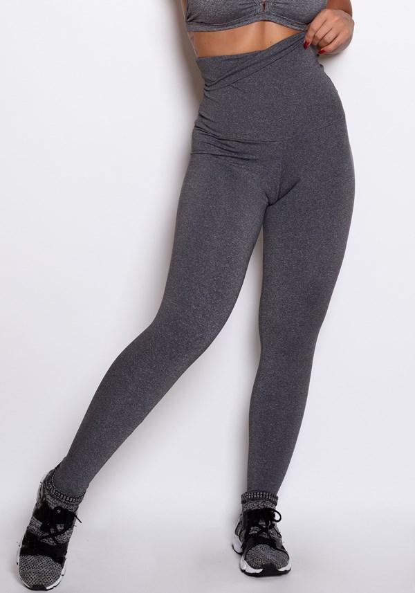 Calça legging modeladora mescla