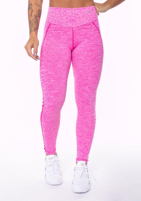 Calça legging nation cós duplo rosa