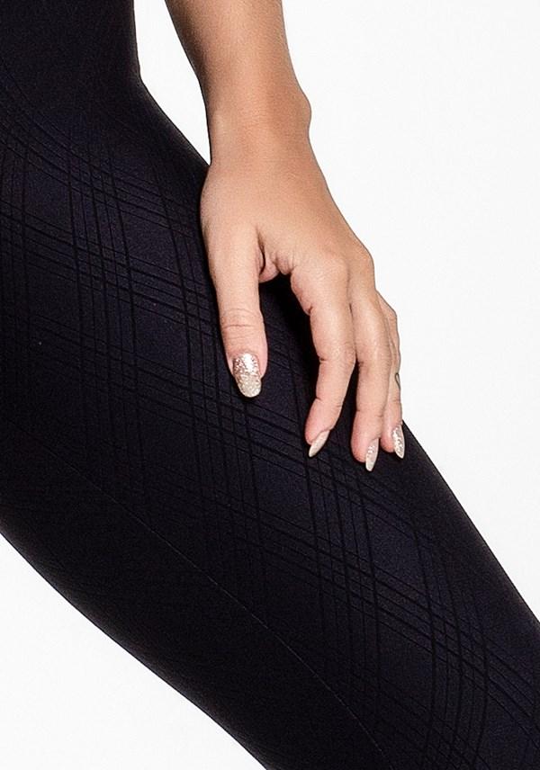 Calça legging poliamida alto relevo black lines