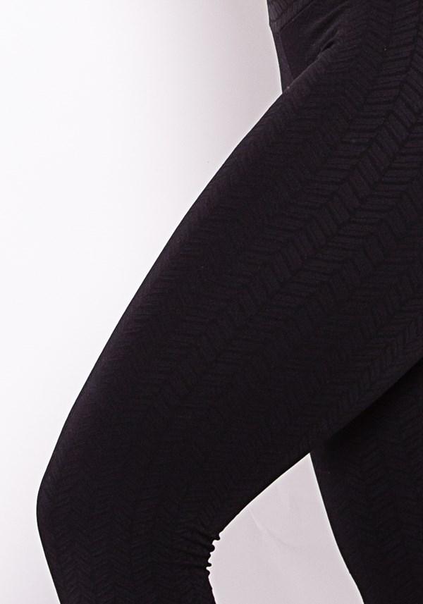 Calça legging poliamida alto relevo preta arrows
