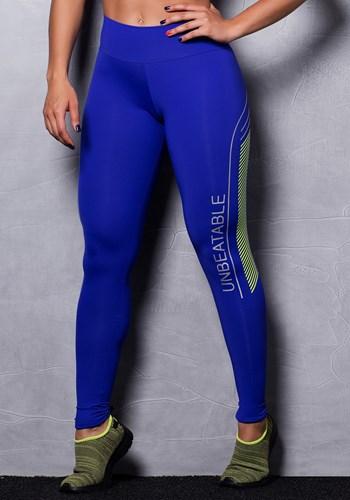Calça legging poliamida azul unbeatable