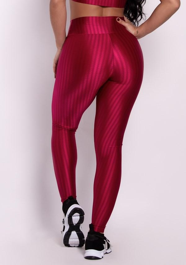 Calça legging poliamida cereja luxe