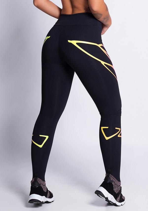 Calça legging poliamida com silk colors