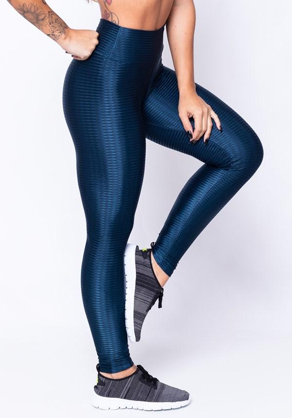 Calça legging poliamida diamond blue