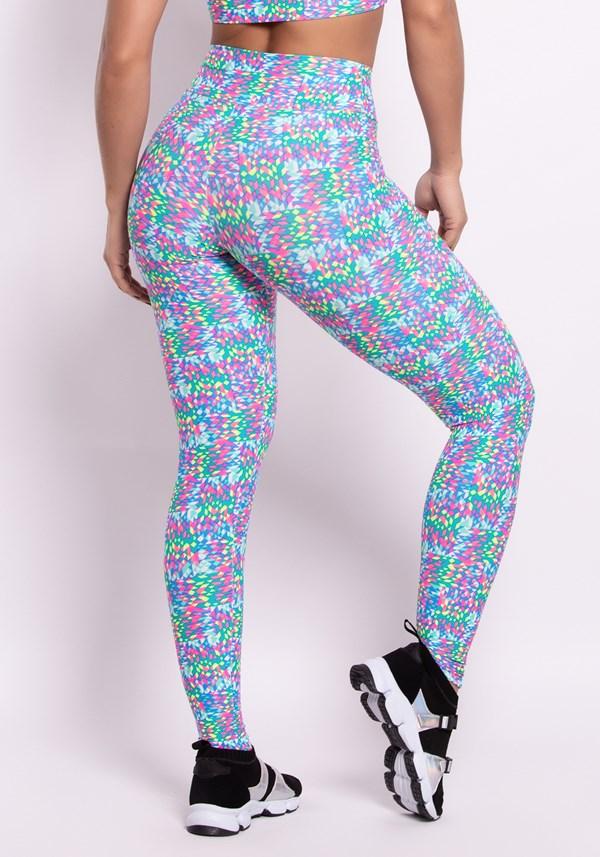 Calça legging poliamida estampada light colors