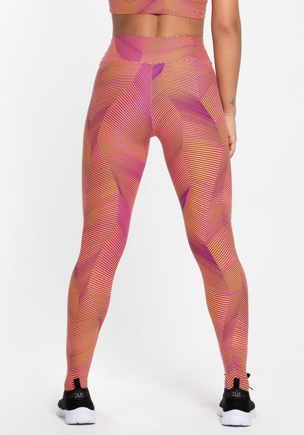 Calça legging poliamida estampada soft colors