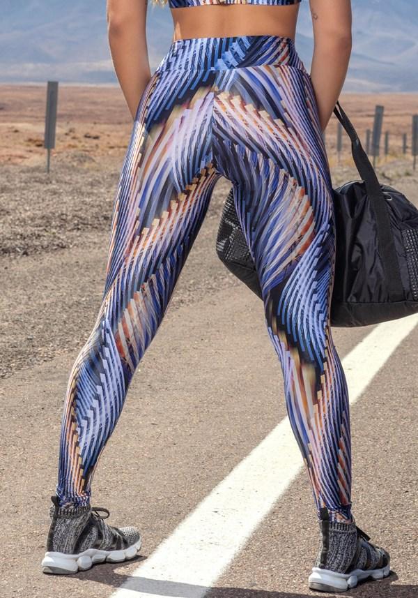 Calça legging poliamida glow gold lines