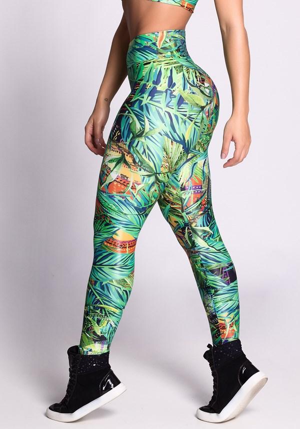 Calça legging poliamida glow jungle