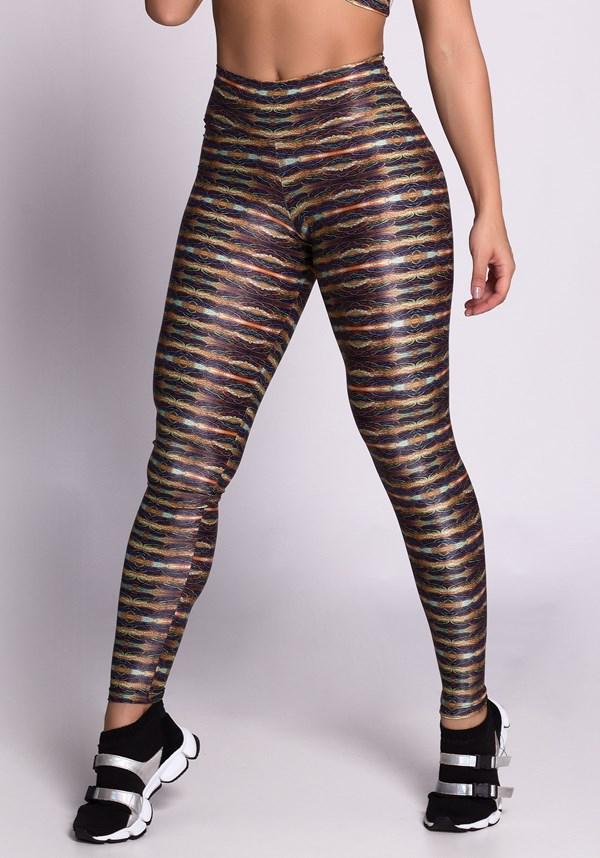 Calça legging poliamida glow lines